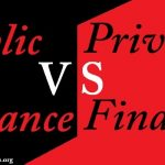 difference between public finance and private finance
