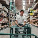 warehouse manager managing warehouse