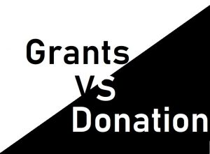 Difference between Donation and Grant
