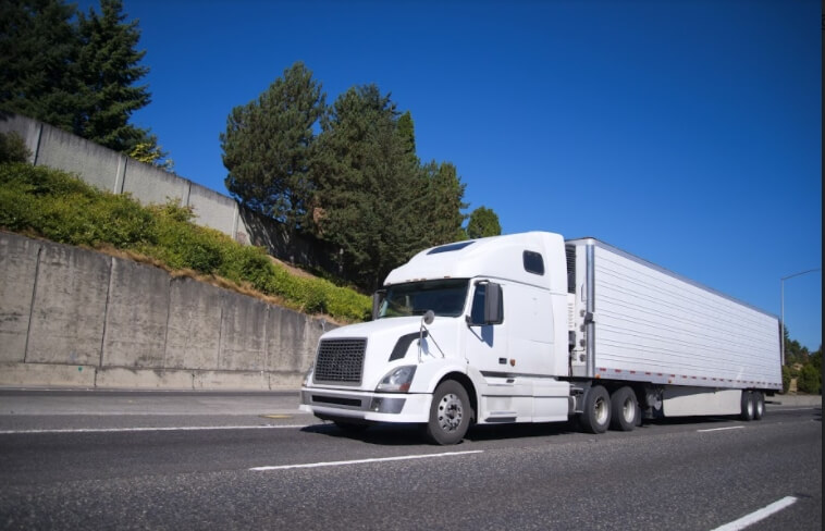 refrigerated truck delivering goods